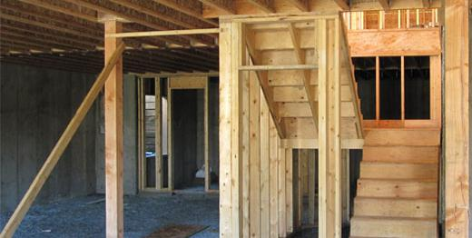 Basement and stairs for White Rock residence